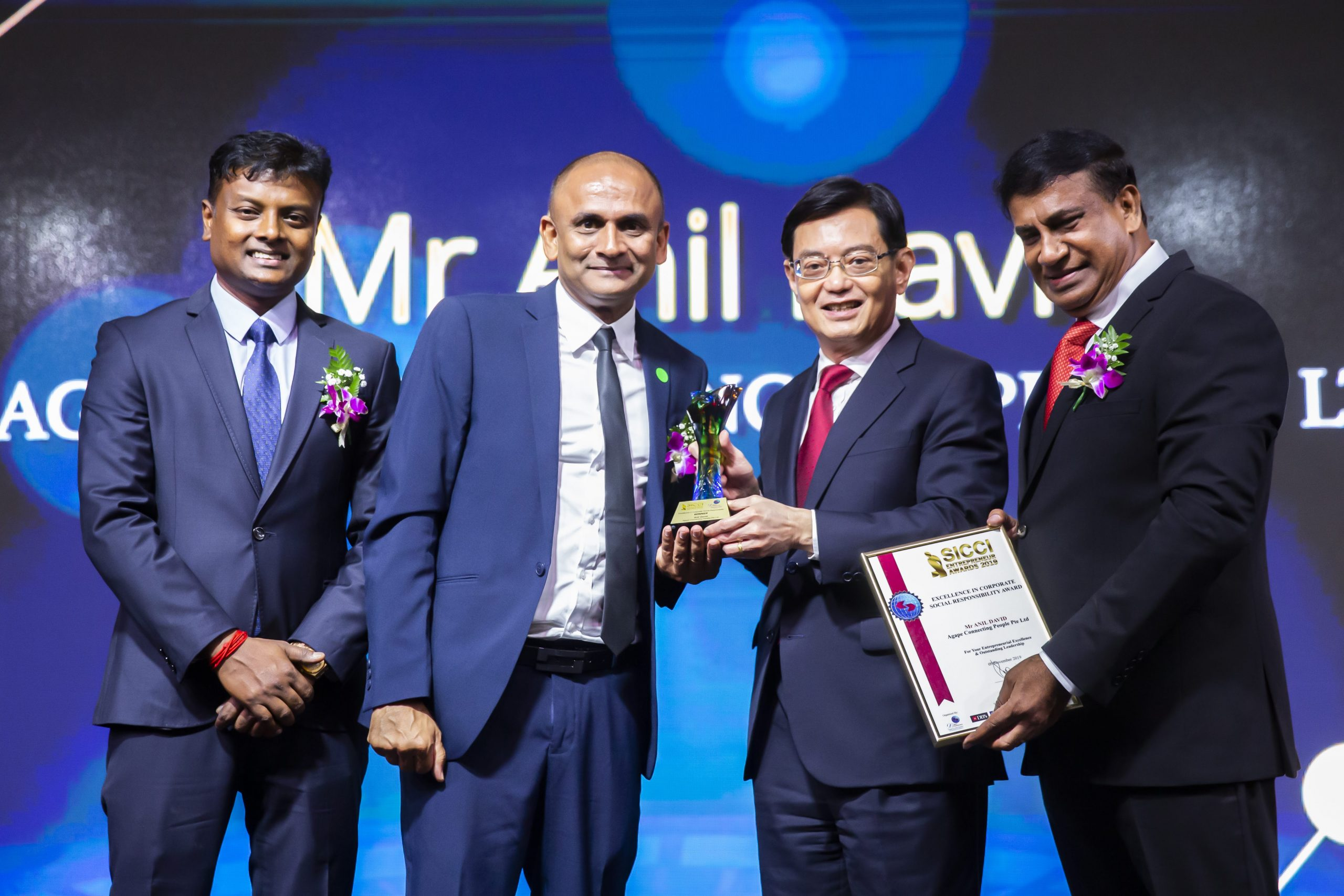 AGAPE's Founder Anil David Wins Excellence Award